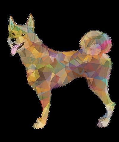 obraz wilk geometryczny
